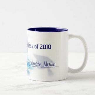 Graduación del ~ de la taza:: Azul Taza De Dos Tonos