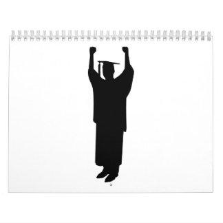 Graduación del estudiante calendarios de pared