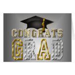 Graduación del graduado de Congrats - oro de plata Felicitación