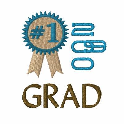 Graduación del graduado del número 1 bordada polo bordado de mujer