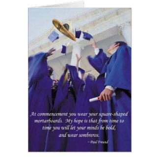 Graduación del sombrero tarjeta de felicitación