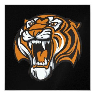 Graduación del tigre - SRF Invitación 13,3 Cm X 13,3cm