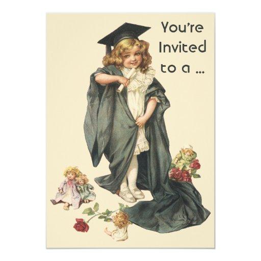 """¡Graduación del vintage, graduados de la Invitación 5"""" X 7"""""""