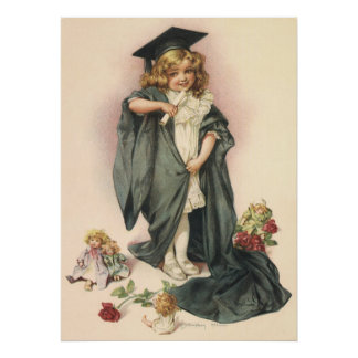 ¡Graduación del vintage, graduados de la Póster