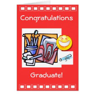 Graduación dental de la industria tarjeta de felicitación