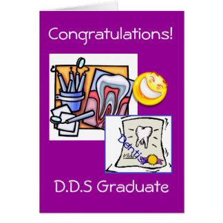 Graduación - dentista D.D.S Tarjetón