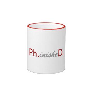 Graduación divertida 2014 phinished taza de café