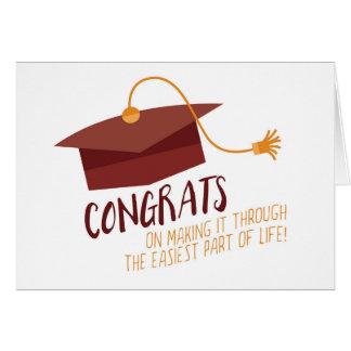 Graduación divertida tarjeta de felicitación