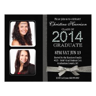 Graduación doble atractiva 2014 de la foto del dia invitaciones personalizada