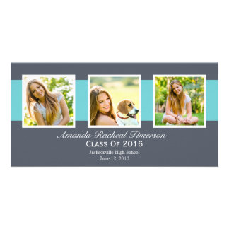 Graduación elegante de la pizarra de 2016 tarjetas fotográficas