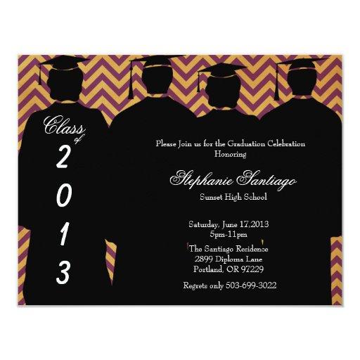 """Graduación elegante de moda Annoucement/invitación Invitación 4.25"""" X 5.5"""""""