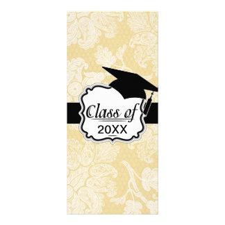 graduación elegante floral del damasco del ecru po tarjeta publicitaria personalizada