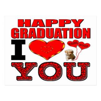 Graduación feliz te amo postal