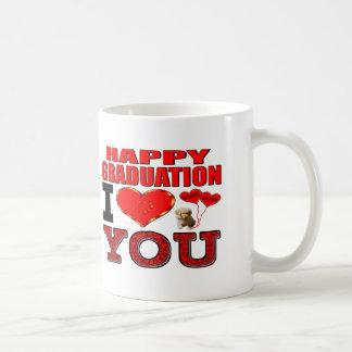 Graduación feliz te amo taza de café