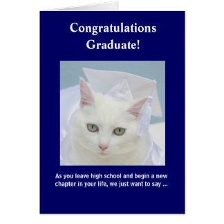 Graduación femenina adaptable tarjeta de felicitación