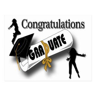 Graduación (femenina) negra Postcar del casquillo  Tarjetas Postales