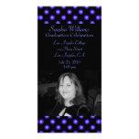 Graduación floral azul tarjetas fotográficas