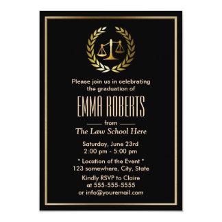 """Graduación formal del colegio de abogados del invitación 5"""" x 7"""""""