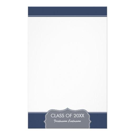 Graduación - frontera de los azules marinos con la  papeleria de diseño