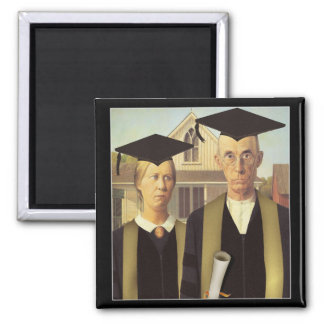 Graduación gótica americana imán de nevera
