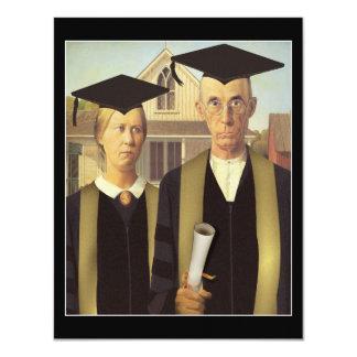 Graduación gótica americana invitación 10,8 x 13,9 cm