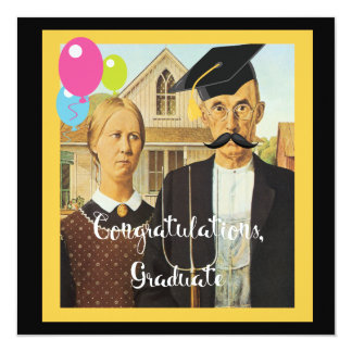 """Graduación gótica americana invitación 5.25"""" x 5.25"""""""