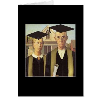 Graduación gótica americana tarjeta de felicitación