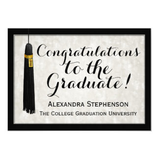 """Graduación graduada de la universidad de la invitación 5"""" x 7"""""""