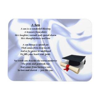 Graduación - imán del poema del hijo