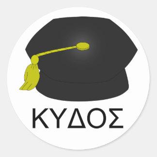 Graduación kudos-Ph.D. Pegatina Redonda