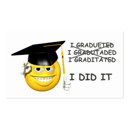 Graduación (LA HICE) Tarjetas De Visita