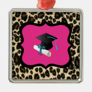 Graduación - leopardo/guepardo rosados ornamente de reyes