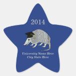 Graduación linda azul de la estrella del armadillo etiquetas