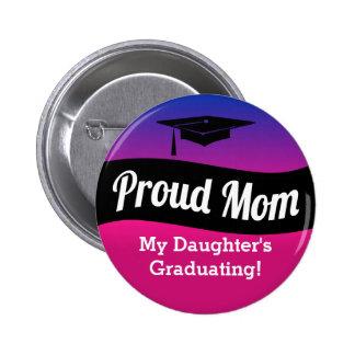 Graduación - mamá orgullosa pin redondo 5 cm