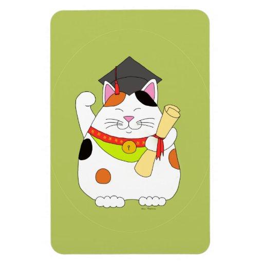 Graduación Maneki Neko Imanes Rectangulares