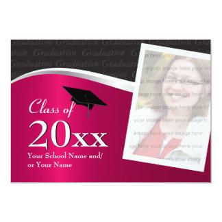 """Graduación marrón y negra adaptable invitación 5"""" x 7"""""""