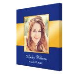 Graduación mayor de la foto del oro azul con clase lona estirada galerias