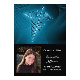 Graduación médica de la foto del logotipo anuncio