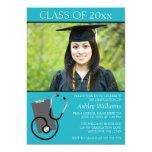 Graduación médica de la foto del trullo de la invitaciones personalizada