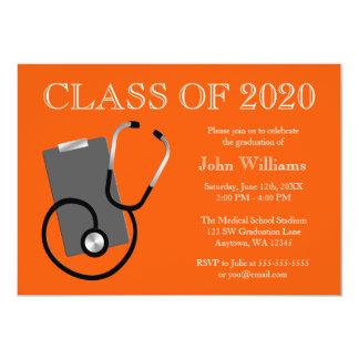 Graduación médica del naranja de la escuela de comunicados personales