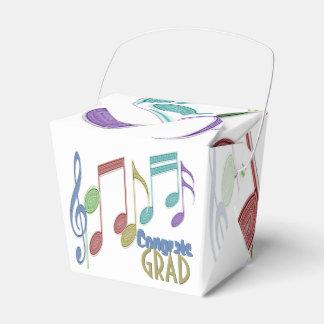 GRADUACIÓN multicolora linear de las notas Cajas Para Regalos