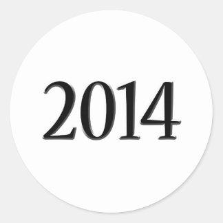 Graduación negra 2014 3D Etiqueta Redonda