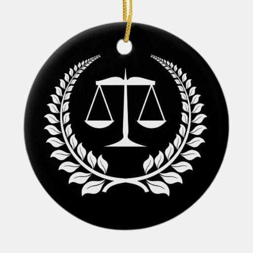 Graduación negra/blanca del colegio de abogados de ornamento de navidad