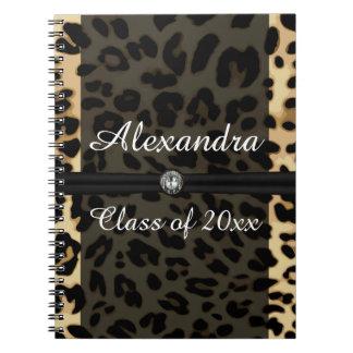 Graduación negra de encargo del chica de la joya cuadernos