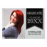 Graduación negra de la foto de colores de la invitacion personalizada