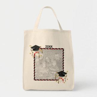 Graduación negra del mortero y del diploma bolsa de mano