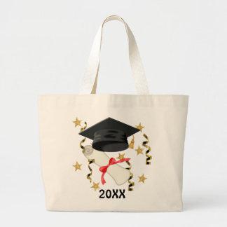 Graduación negra del mortero y del diploma bolsas