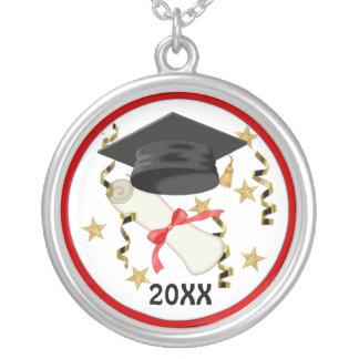 Graduación negra del mortero y del diploma joyeria