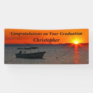 Graduación o retiro personalizada del barco de lona