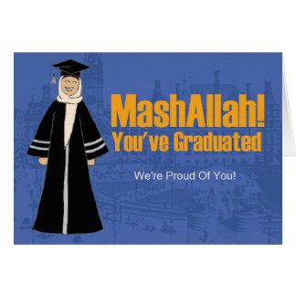graduación para las hermanas tarjeta de felicitación